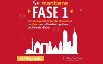 Se reanuda la Fase 1 de Contingencia Ambiental en el Valle de México