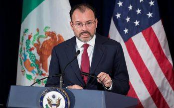 """Notificación al Congreso de EU para renovar el TLCAN, """"buenas noticias"""": Videgaray"""