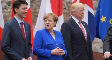 """Difícil e insatisfactoria"", califica Merkel reunión del G7 sobre clima, en París"