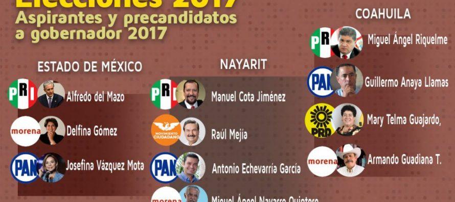 Faltan diez candidatos a gobernador que no han presentado su declaración 3 de 3