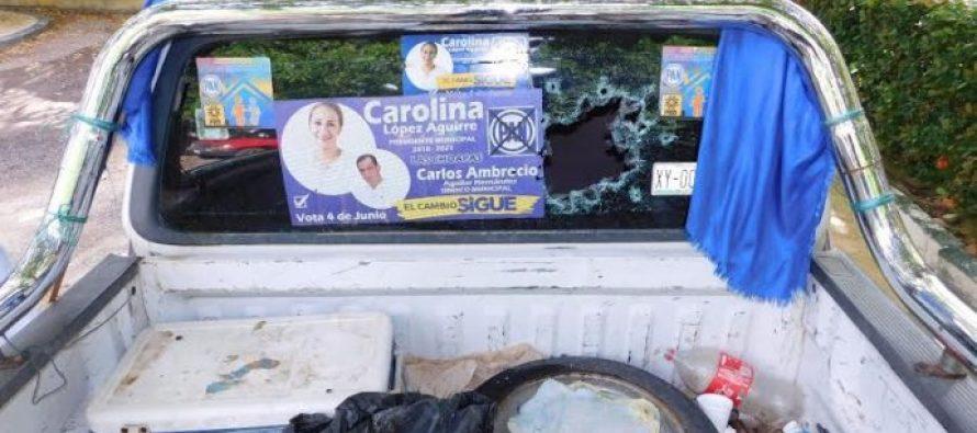 Atacan casa y camioneta de candidata a la alcaldía de Las Choapas