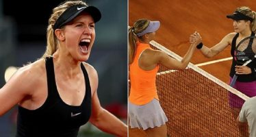 Desafiante, Bouchard eliminó a Sharapova en el Masters de Madrid