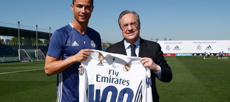 Cristiano Ronaldo es homenajeado por sus 400 goles con el Real Madrid