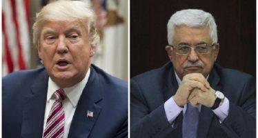 Trump y el líder palestino Mahmud Abás se reúnen en la Casa Blanca