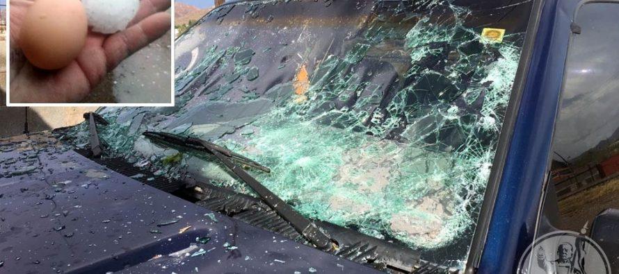 Granizada en Chihuahua dejó 250 vehículos y 35 casas con daños