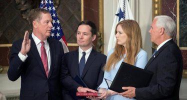Toman juramento a Robert Lighthizer como representante comercial de EU