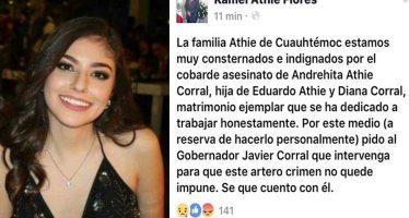 Torturan y matan a sobrina de delegado de la Conagua en Chihuahua