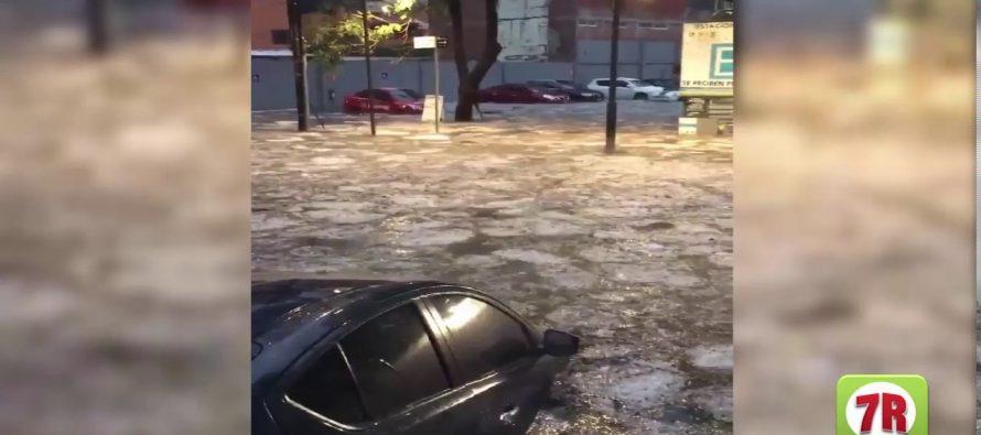 Fuerte lluvia inundó Polanco