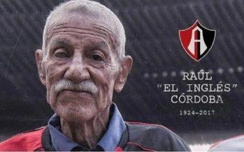 """Murió portero del Atlas que fue campeón en 1951, """"El Inglés"""" Raúl Córdoba"""