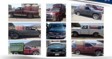 Ponen a disposición de Fiscalía 16 vehículos y dos ranchos de huachicolero en Puebla