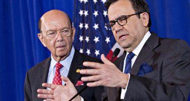 Se reúnen en Washington Ildefonso Guajardo y Wilbur Ross, titulares de Economía