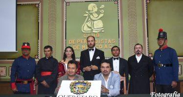 Conferencia de Prensa en el Club de Periodistas de México por el 150 aniversario de la Restauración de la República