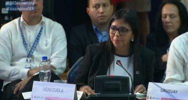 Abandona Venezuela asamblea de la OEA; desconoce cualquier resolución sobre su país