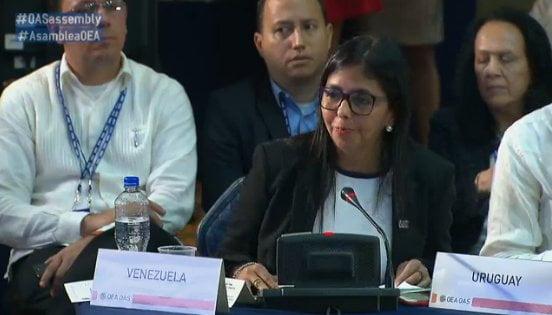 Delcy Rodríguez, canciller de Venezuela. Foto: @vencancilleria