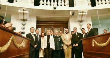 Inscribe la ALDF con letras de oro los nombres de José Joaquín Fernández de Lizardi y Francisco J. Múgica