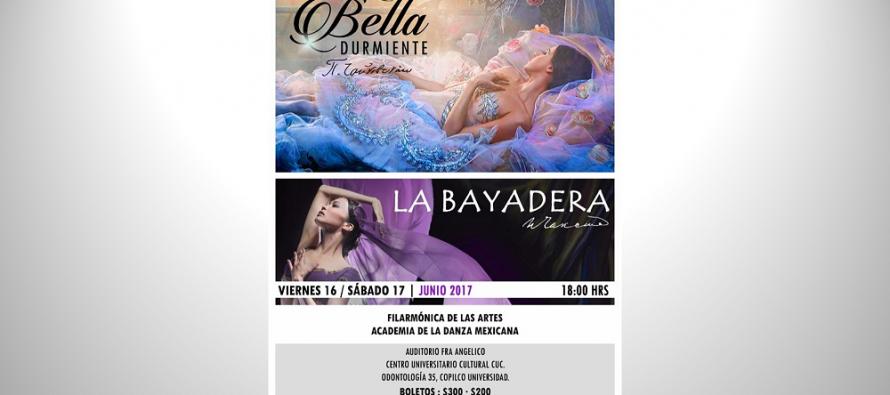 """La Filarmónica de las Artes presenta """"La Bella Durmiente"""" y """"La Bayadera"""" junto con la Academia de la Danza Mexicana"""