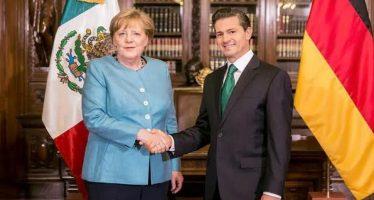 Merkel visita México; fomentan promoción del Estado de Derecho y relaciones comerciales