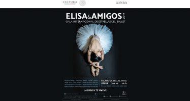 Grandes exponentes del ballet mundial protagonizarán la Gala Elisa y amigos 2017 en el Palacio de Bellas Artes