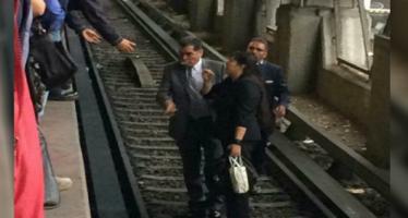 Sujeto avienta a mujer a las vías del Metro Constitución de 1917