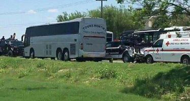 Chocan autobús que transportaba reos del penal de Ciudad Victoria