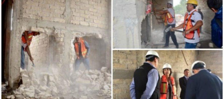 Inician demolición de pisos excedentes en construcciones que violaron ley en la CDMX