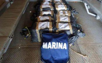 Hallan flotando en altamar 212 kilos de cocaína, a 222 kilómetros de Puerto Chiapas