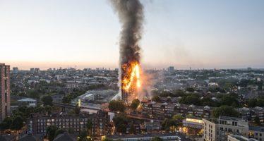 Un refrigerador causó el incendio de edificio en Londres
