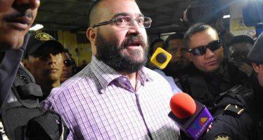 Javier Duarte comparece en audiencia ante autoridades de Guatemala