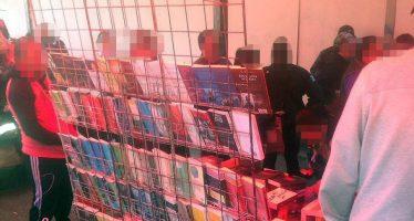 PGR asegura más de 6 mil libros piratas en Balderas, Reforma y Callejón Condesa