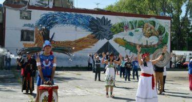 Inauguran murales precuauhtémicos en Azcapotzalco