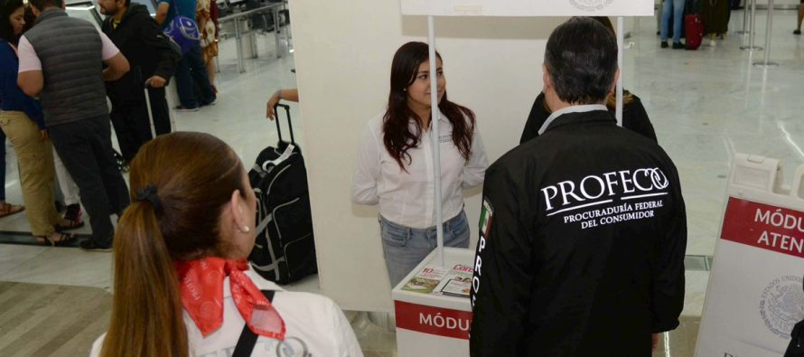 Profeco multa a aerolíneas por un total de 22.4 millones de pesos