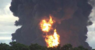 Ocurre nueva explosión en refinería de Pemex en Salina Cruz