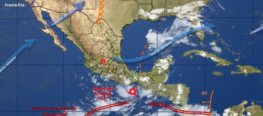 Se acerca depresión tropical 3-E a las costas de Oaxaca; causará fuertes lluvias
