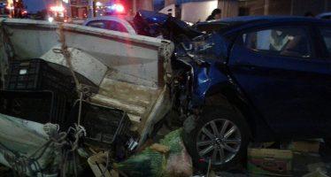 Tráiler choca contra varios autos en la México-Puebla
