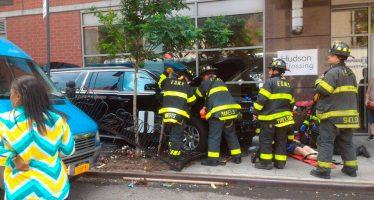 Vehículo arrolla a diez peatones en Manhattan