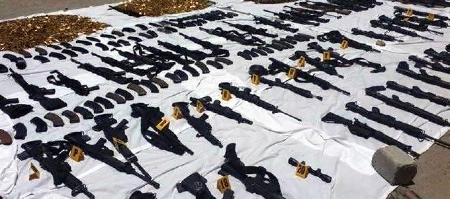 Ejército asegura armamento en Nuevo Laredo, Tamaulipas