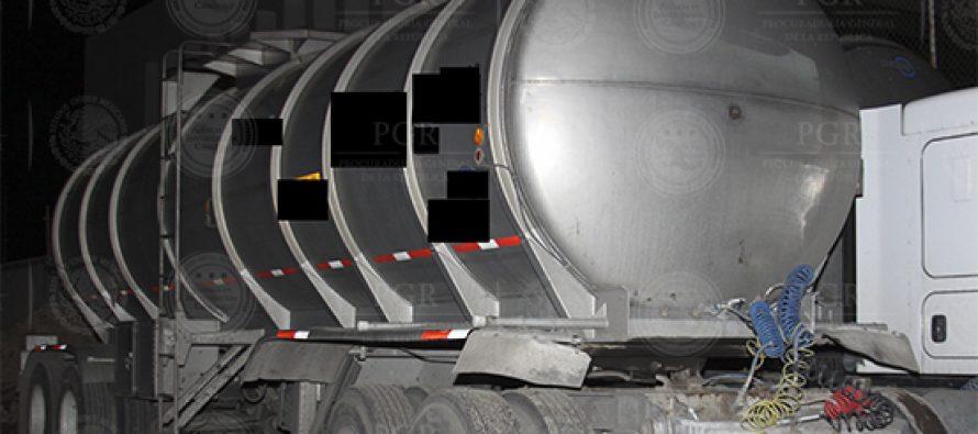 Asegura PGR 159 mil litros de combustible en Hidalgo