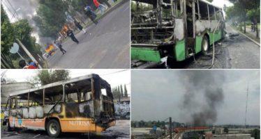 Incendian camiones en Tláhuac para repeler operativo