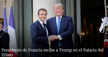 Presidente de Francia da bienvenida a Trump