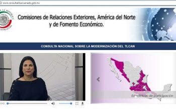 Mexicanos pueden participar en consulta sobre modernización del TLCAN
