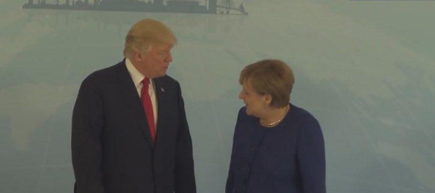 Se reúnen Trump y Merkel, en Hamburgo, antes del G-20