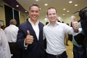 Guillermo Anaya (izquierda), con Ricardo Anaya. Foto: PAN