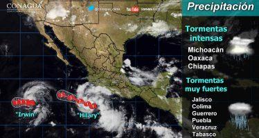 Hilary ya es huracán; lloverá fuerte en el suroeste de México