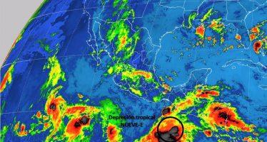 Depresión tropical Nueve E avanza hacia las costas de Oaxaca