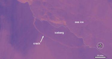 Enorme iceberg de casi 6 mil km2 se desprende de la Antártida