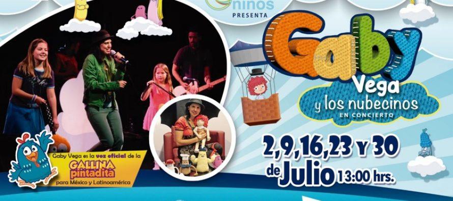 Gaby Vega  y los nubecinos, los domingos de julio en el Lunario