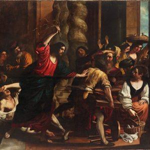 La expulsión de los mercaderes. Obra de Giovanni Franceso Barbieri. Foto Especial