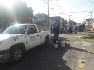 Reparación de socavón en Ecatepec. Foto de @Ecatepec
