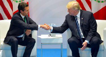 Peña y Trump hablan de renegociación del TLCAN
