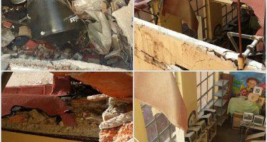 Se desploma el techo de un aula, en Centro Histórico